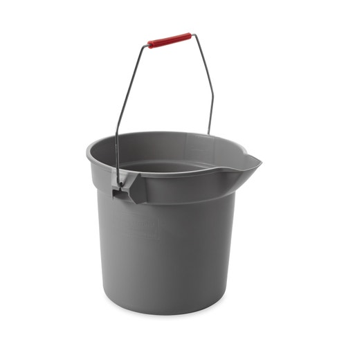 Rubbermaid Commercial Products BRUTE Bucket, 10 Qt , Gray